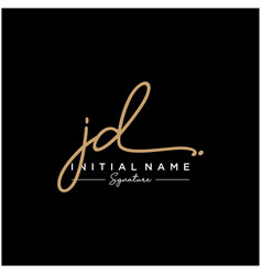 letter jd signature logo template vector image