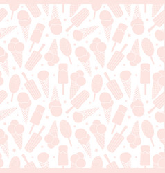 light pink ice cream seamless pattern vector image