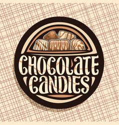 Logo for chocolate candies vector