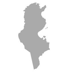 Map of tunisia vector