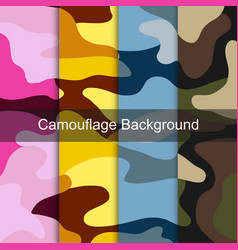 military colorful camouflage pattern vector image