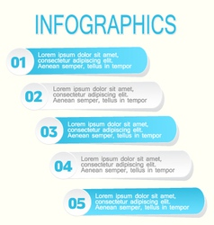 Modern infographic design template blue and white vector image