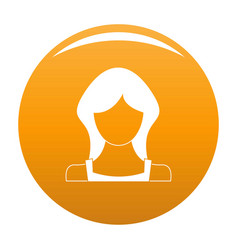 New woman user icon orange vector
