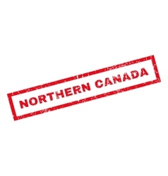 Northern Canada Rubber Stamp vector