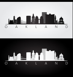 oakland usa skyline and landmarks silhouette vector image