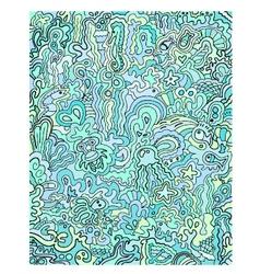 ocean doodles vector image