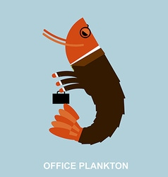 Office plankton Shrimp in business suit and vector image