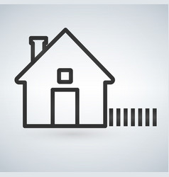 outline home icon isolated on light background vector image