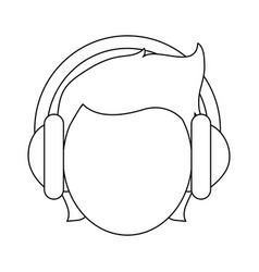 Person with headphones icon image vector