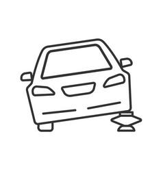 portable car jack linear icon vector image