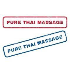 Pure Thai Massage Rubber Stamps vector