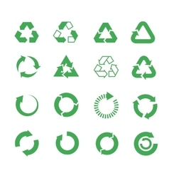 Recycle raw materials icons set vector
