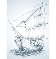 Sailboat wallpaper vector image