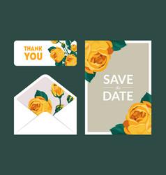 Save date holiday wedding invitation vector