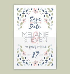 save the date wedding invitation card design vector image