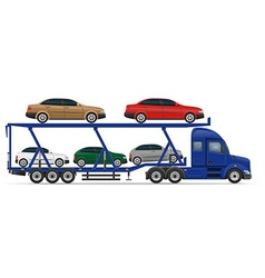 semi truck trailer concept 13 vector image vector image