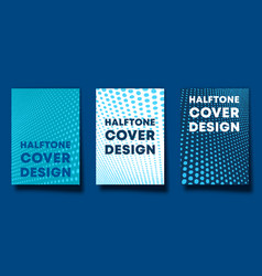 set halftone design background for banner vector image
