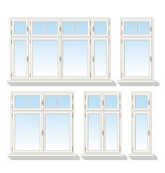 Set of different windows vector