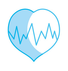 Silhouette medical heartbeat to cardiac rhythm vector