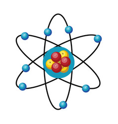 simple atom design on white background vector image
