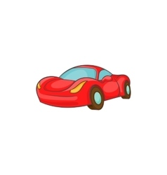 Small red italian car icon cartoon style vector image
