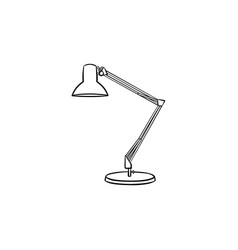 table lamp hand drawn sketch icon vector image
