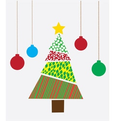 Tree Christmas abstract vector image