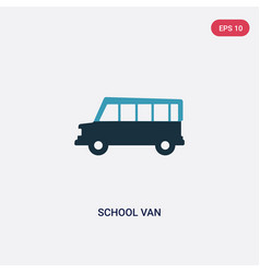 two color school van icon from transport concept vector image