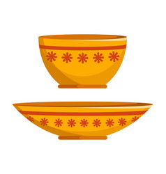 Two different shapes plates vector