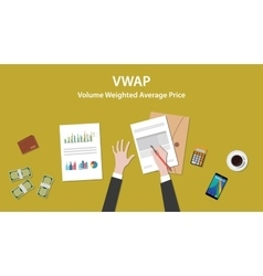vwap volume weighted average price concept with vector image