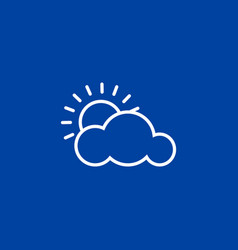 weather icon on blue background vector image