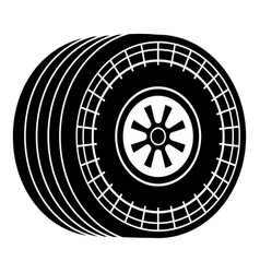 wheel sport car icon simple black style vector image