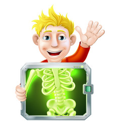 xray man waving vector image