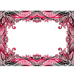 abstract floral border background vector image vector image