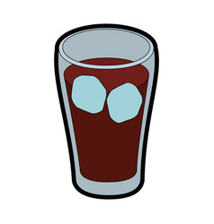 isolated cold coke drink vector image