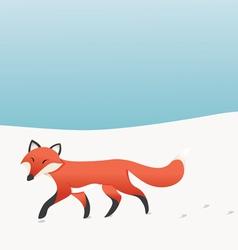 Walking Fox vector image vector image