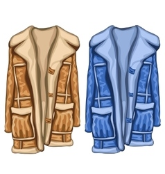 Dressing gowns in two colors blue and brown vector image vector image