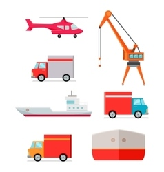 Set of Transports for Worldwide Goods Delivering vector image vector image