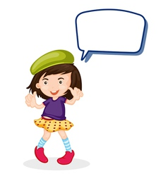 a girl and call out vector image