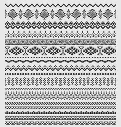 brushes collection in boho style vector image