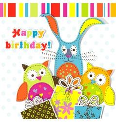 Children Birthday Card vector image
