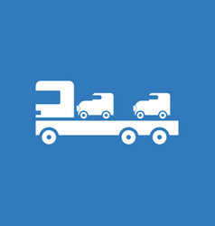 icon car carrier truck deliver vector image vector image