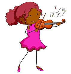 Violin player vector image vector image