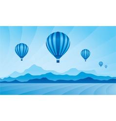 Air balloon in the blue sky vector image