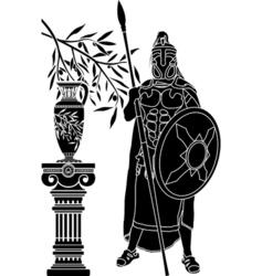 ancient hellenic man vector image vector image