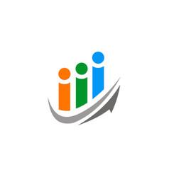 arrow people group logo vector image vector image