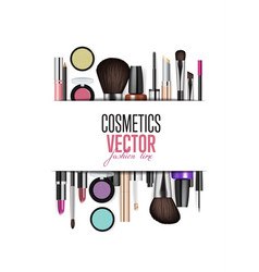 cosmetic products assortment realism banner vector image vector image
