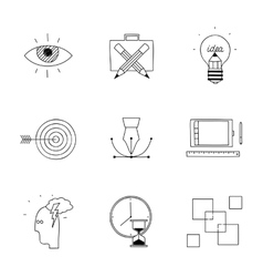 Hand drawn doodle sketch creative design process vector image vector image