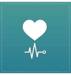 Heart with its cardiogram vector image