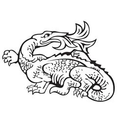 heraldic dragon No11 vector image vector image